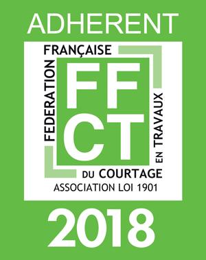 Adhérent FFCT - Fédération française de courtage en travaux - Association Loi 1901